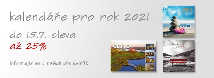 kalendáře pro rok 2021 - do 30.6. sleva až 30% - informujte se u našich obchodníků