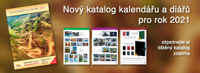 Nový katalog kalendářů a diářů pro rok 2021 - objednejte si tištný katalog zdarma