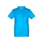 Obrázek THC ADAM KIDS. Dětská polokošile 12 - modrá aqua