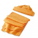 Obrázek Sada čepice a šála - oranžová