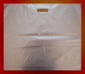 Obrázek Igelitové tašky o rozměru 650 x 550 mm, stříbřité, potisk 1/0